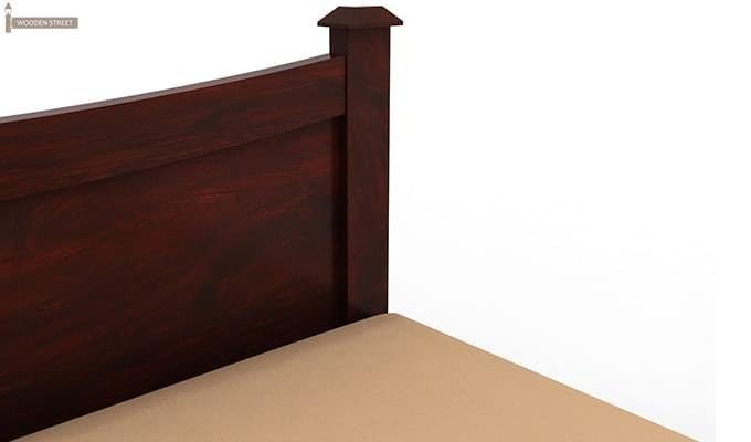 Christina Bed Without Storage (Queen Size, Mahogany Finish)-5