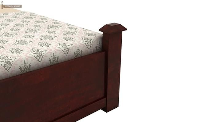 Christina Bed Without Storage (King Size, Mahogany Finish)-6
