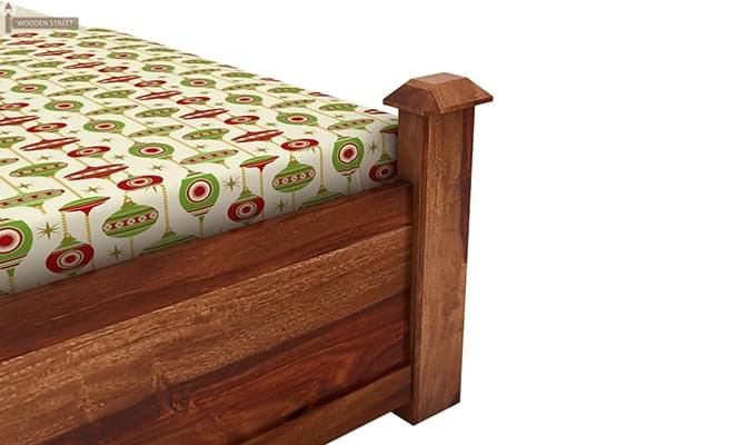 Christina Bed Without Storage (Queen Size, Teak Finish)-6