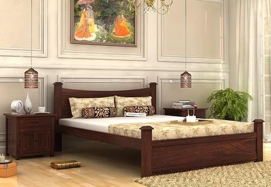 wooden queen size bed online in India