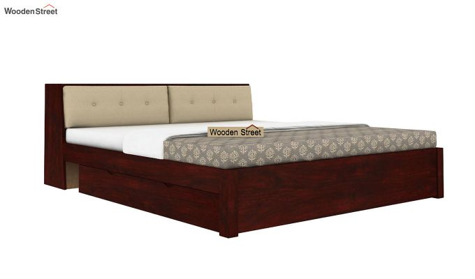 Bolivia Storage Bed With Bedside (King Size, Mahogany Finish)-3