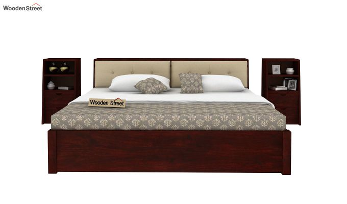 Bolivia Storage Bed With Bedside (King Size, Mahogany Finish)-5