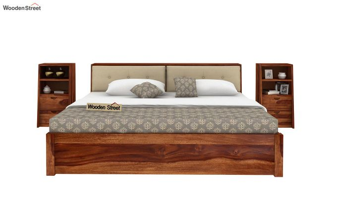 Bolivia Multi Storage Bed (King Size, Teak Finish)-6