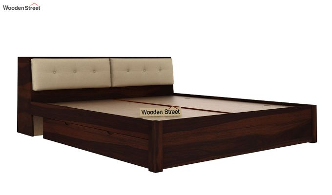 Bolivia Storage Bed With Bedside (Queen Size, Walnut Finish)-7