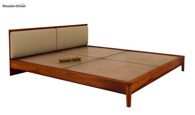 Breo Bed Without Storage (Queen Size, Honey Finish)-8