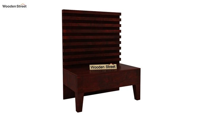 Breo Bed Without Storage (Queen Size, Mahogany Finish)-5