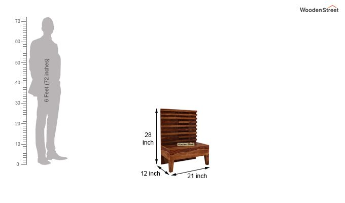 Breo Bed Without Storage (Queen Size, Teak Finish)-11