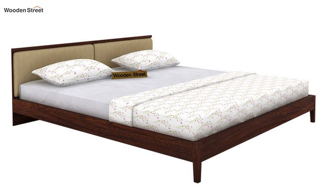 Breo Bed Without Storage (King Size, Walnut Finish)-4
