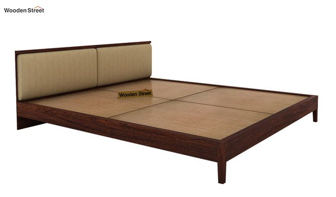 Breo Bed Without Storage (Queen Size, Walnut Finish)-8