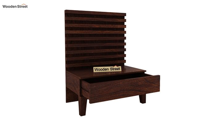 Breo Bed Without Storage (King Size, Walnut Finish)-7