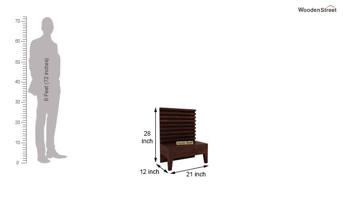 Breo Bed Without Storage (King Size, Walnut Finish)-10