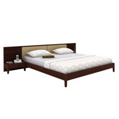 Breo Bed Without Storage (King Size, Walnut Finish)