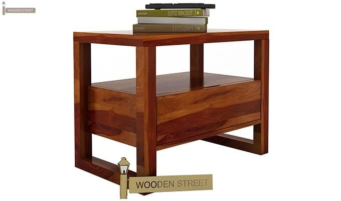 Bryson Bedside Table (Honey Finish)-3