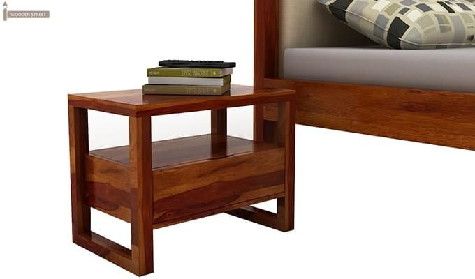 Bryson Bedside Table (Honey Finish)-2