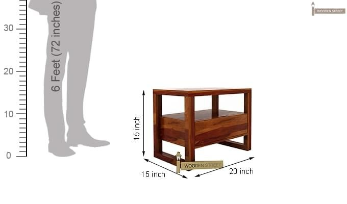 Bryson Bedside Table (Honey Finish)-7