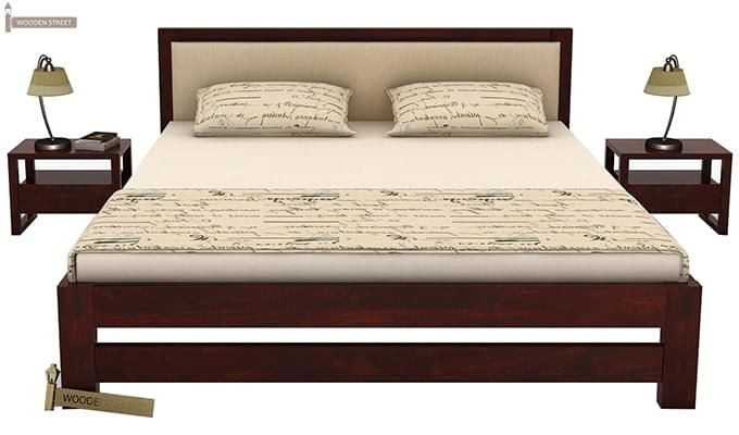 Bryson Bed Without Storage (King Size, Mahogany Finish)-2