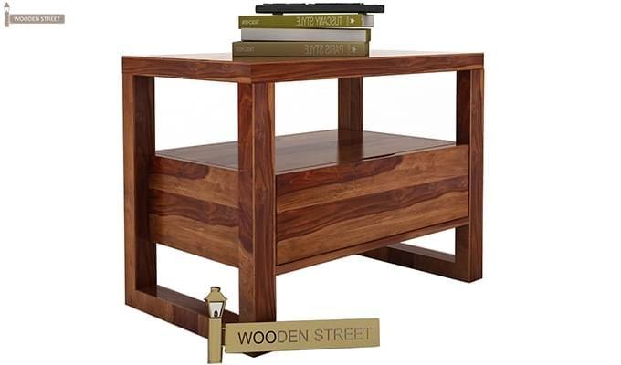 Bryson Bedside Table (Teak Finish)-2