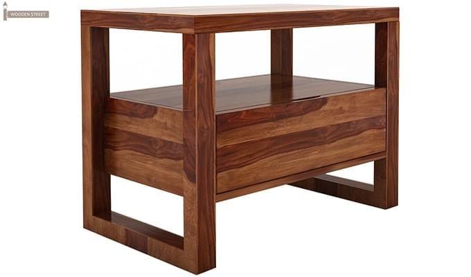 Bryson Bedside Table (Teak Finish)-3