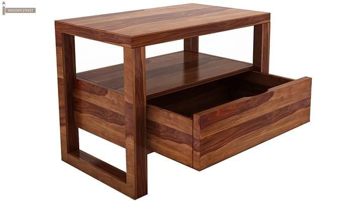 Bryson Bedside Table (Teak Finish)-4
