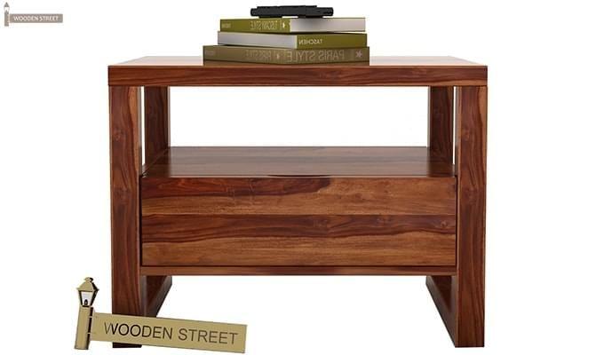 Bryson Bedside Table (Teak Finish)-5
