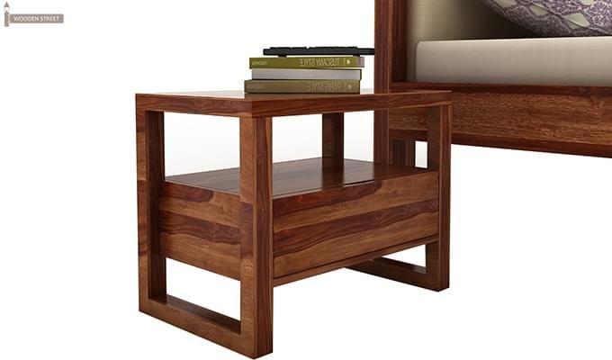Bryson Bedside Table (Teak Finish)-1