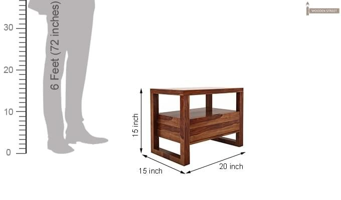 Bryson Bedside Table (Teak Finish)-6
