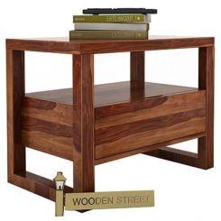 Bryson Bedside Table (Teak Finish)