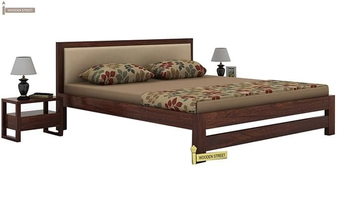 Bryson Bed Without Storage (King Size, Walnut Finish)-1