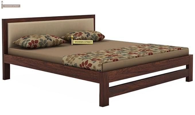 Bryson Bed Without Storage (King Size, Walnut Finish)-3