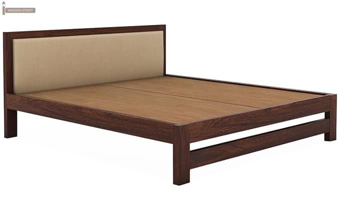 Bryson Bed Without Storage (King Size, Walnut Finish)-4