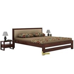 Bryson Bed Without Storage (King Size, Walnut Finish)