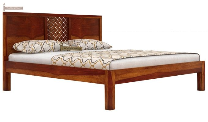 Cambrey Bed Without Storage (King Size, Honey Finish)-4