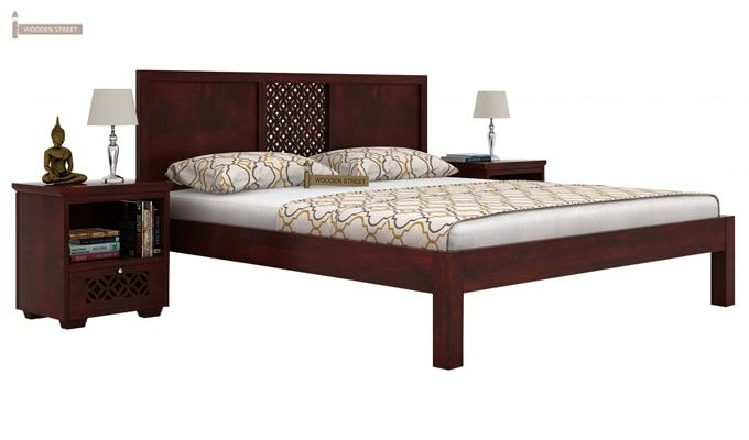 Cambrey Bed Without Storage (King Size, Mahogany Finish)-1