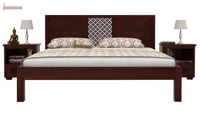 Cambrey Bed Without Storage (King Size, Mahogany Finish)-2