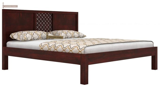 Cambrey Bed Without Storage (King Size, Mahogany Finish)-3