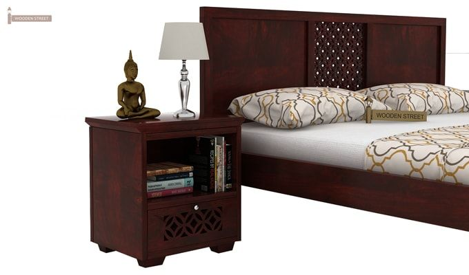 Cambrey Bed Without Storage (King Size, Mahogany Finish)-4