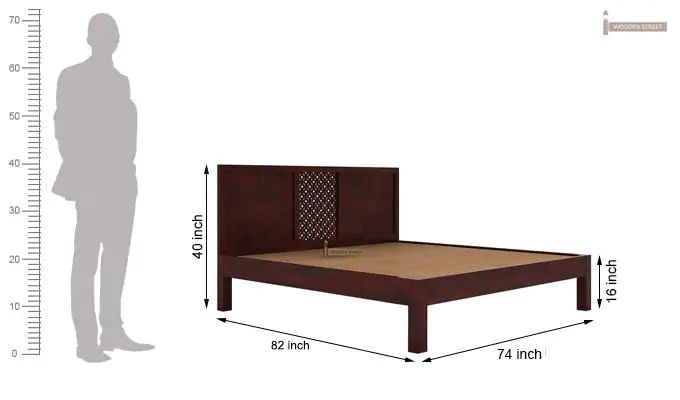 Cambrey Bed Without Storage (King Size, Mahogany Finish)-6