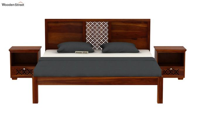 Cambrey Bed Without Storage (Queen Size, Honey Finish)-3