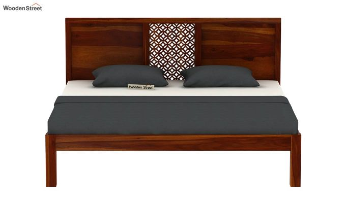 Cambrey Bed Without Storage (Queen Size, Honey Finish)-5