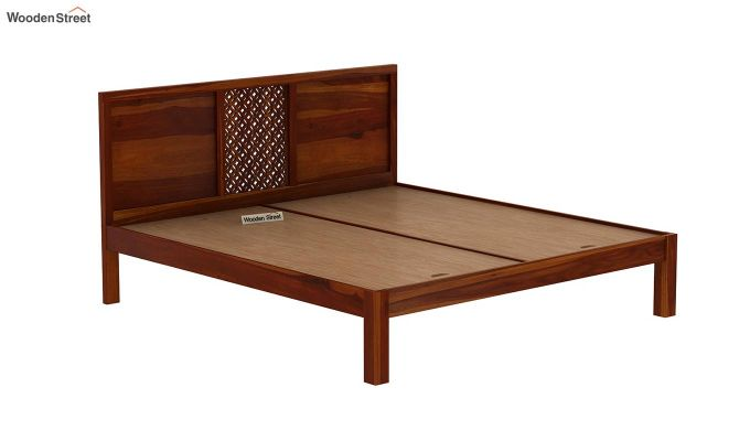 Cambrey Bed Without Storage (Queen Size, Honey Finish)-6