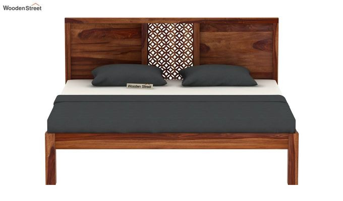 Cambrey Bed Without Storage (King Size, Teak Finish)-5