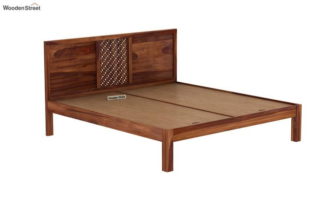 Cambrey Bed Without Storage (King Size, Teak Finish)-6