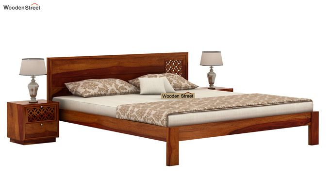 Cambrey Designed Bed Without Storage (Queen Size, Honey Finish)-2
