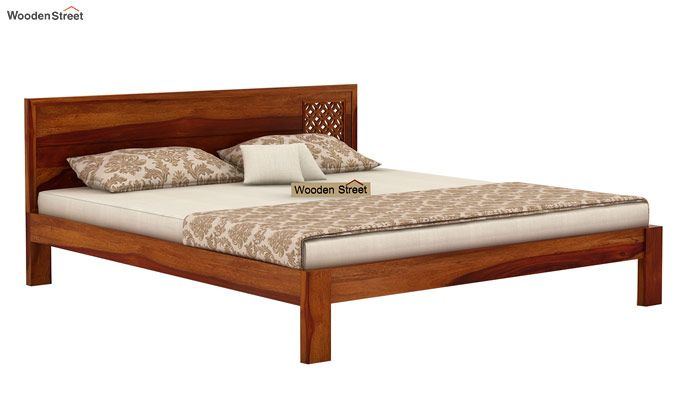 Cambrey Designed Bed Without Storage (King Size, Honey Finish)-5