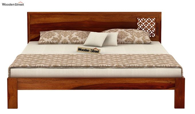 Cambrey Designed Bed Without Storage (King Size, Honey Finish)-4