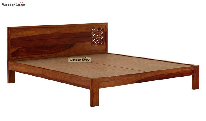 Cambrey Designed Bed Without Storage (Queen Size, Honey Finish)-7