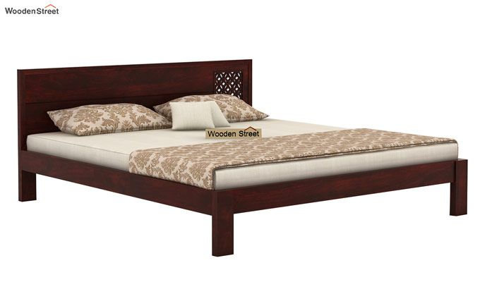 Cambrey Designed Bed Without Storage (Queen Size, Mahogany Finish)-3