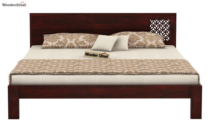 Cambrey Designed Bed Without Storage (Queen Size, Mahogany Finish)-4