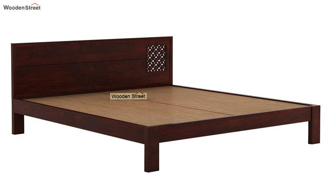 Cambrey Designed Bed Without Storage (Queen Size, Mahogany Finish)-6