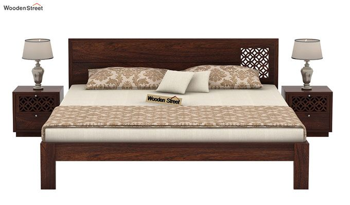 Cambrey Designed Bed Without Storage (King Size, Walnut Finish)-2